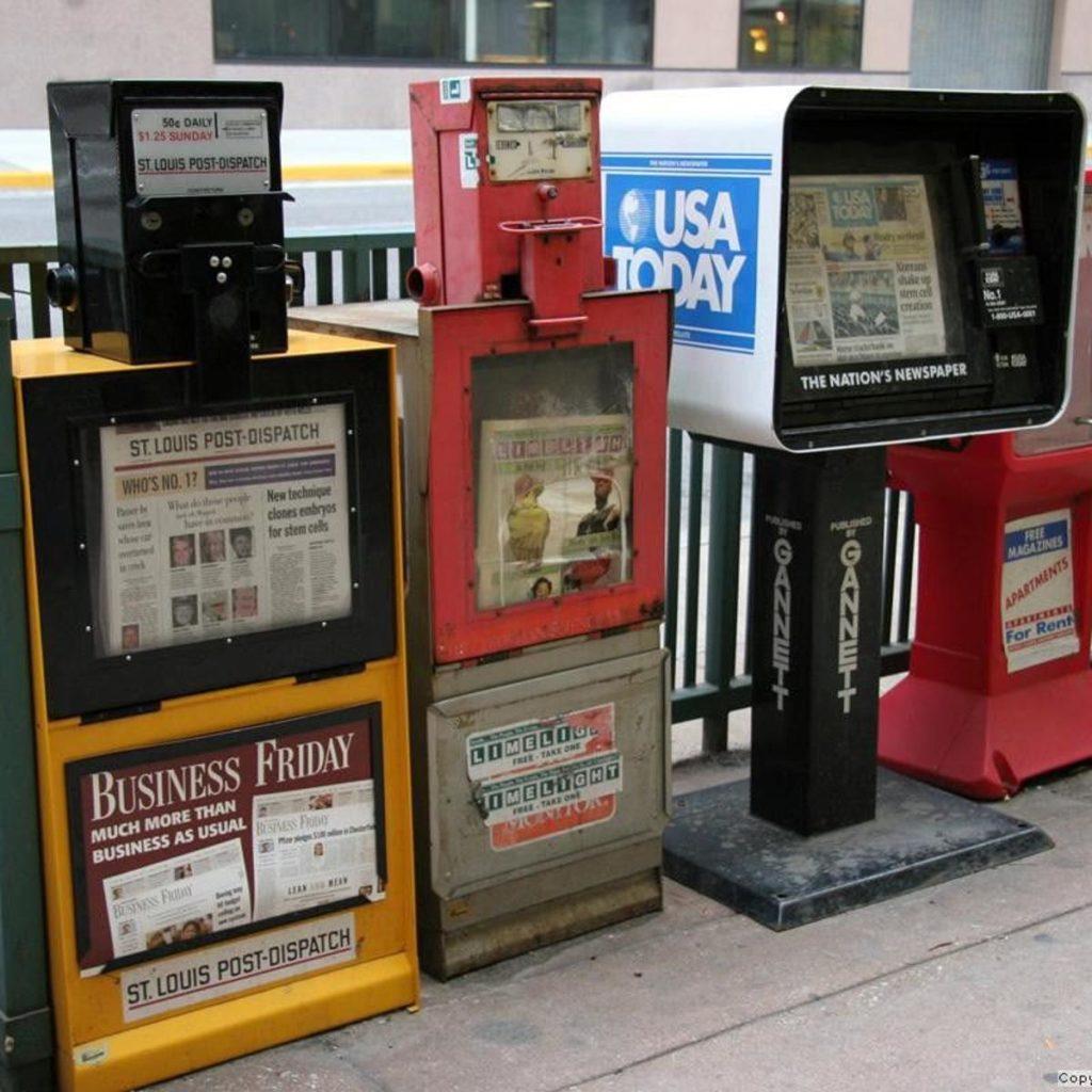 Dispensador de periódicos